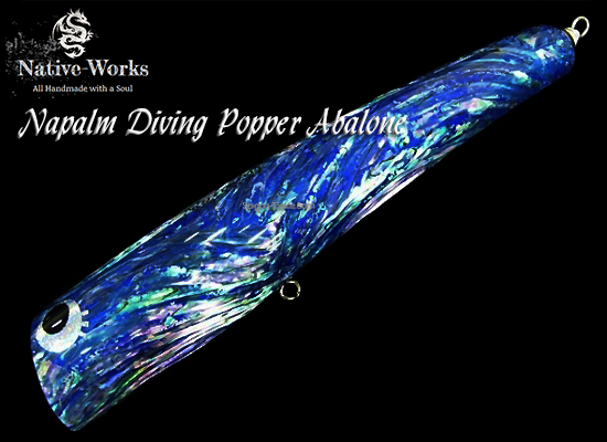 NAPALM DIVING POPPER ABALONE BLUE - 220 ( 120GAM