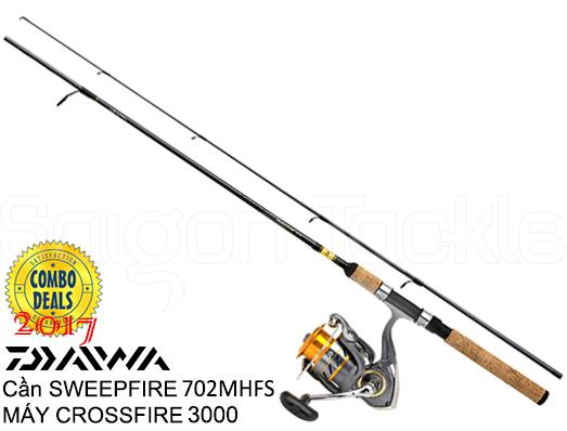 DAIWA COMBO CROSSFIRE 3000 & SWEEPFIRE 702 MHFS