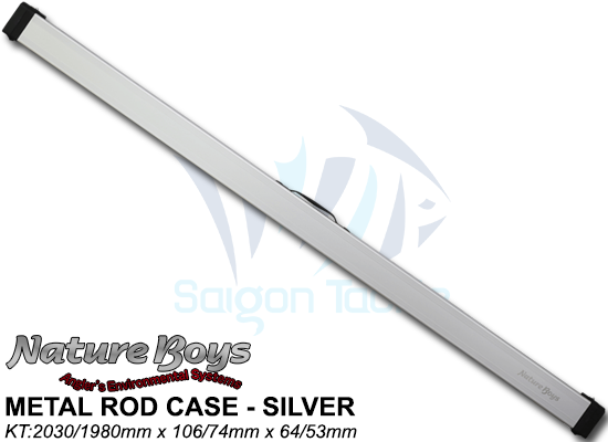 NATURE BOYS METAL ROD CASE - SILVER