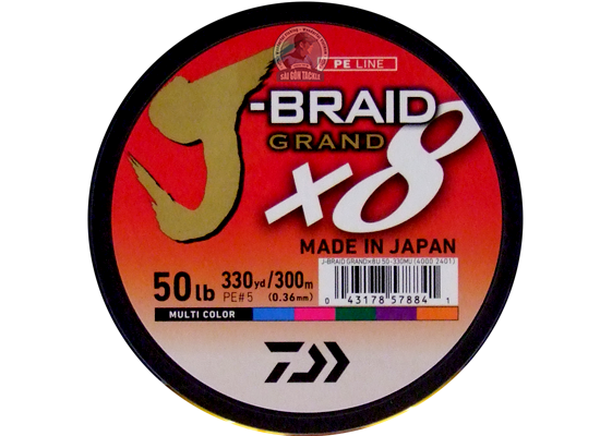 DAIWA J BRAID 50LB - 300M MULTI COLOR