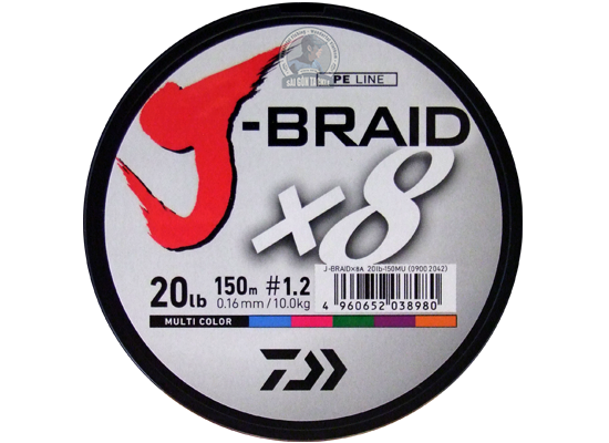 DAIWA J-BRAID #1.2 ( 20LB ) - 150M MULTI COLOR